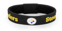 STEELERS BLACK ELASTIC BRACELET