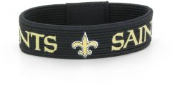 SAINTS ELASTIC BRACELET (BLACK)