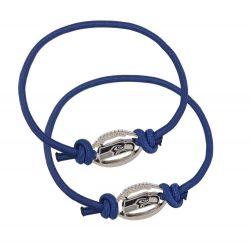 SEAHAWKS BLUE STRETCH BRACELET/HAIR TIE