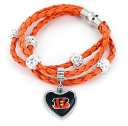 BENGALS (ORANGE) BRAIDED CORDS BRACELET