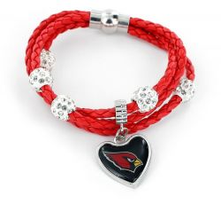 CARDINALS (RED) BRAIDED CORDS BRACELET  (OC)