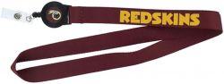 REDSKINS BADGE REEL WITH (RED) LANYARD
