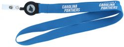 PANTHERS BADGE REEL WITH (BLUE) LANYARD