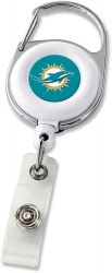 DOLPHINS DELUXE CLIP BADGE REEL