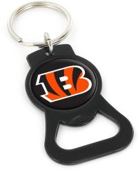 BENGALS (BLACK) BOTTLE OPENER KEYCHAIN