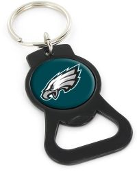EAGLES (BLACK) BOTTLE OPENER KEYCHAIN