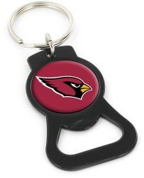 CARDINALS (BLACK) BOTTLE OPENER KEYCHAIN