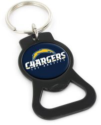 CHARGERS (BLACK) BOTTLE OPENER KEYCHAIN