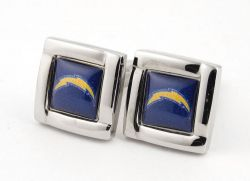 CHARGERS SQUARE CUFFLINKS