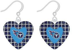 TITANS (BLUE) GLITTER STONE HEART EARRINGS (OC)