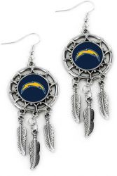 CHARGERS DREAM CATCHER EARRINGS