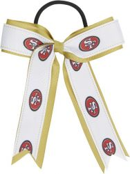 49ERS BOW PONY TAIL HOLDER