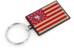 49ERS AMERICANA FLAG KEYCHAIN