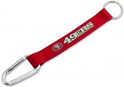 49ERS (RED) CARABINER KEYCHAIN