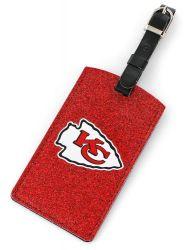 CHIEFS (RED) SPARKLE BAG TAG (OC)