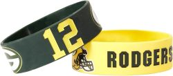 PACKERS (RODGERS) PLAYER WIDE SILICONE BRACELET (2 PACK)