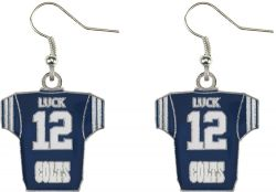 COLTS (LUCK) PLAYER JERSEY EARRINGS