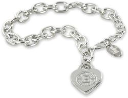 BRUINS HEART TAG BRACELET