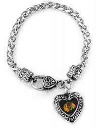 BLACKHAWKS HEART BRACELET