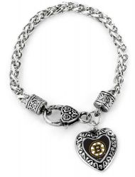 BRUINS HEART BRACELET