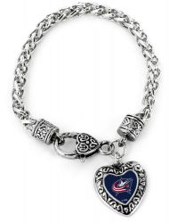 BLUE JACKETS HEART BRACELET