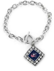 BLUE JACKETS CRYSTAL DIAMOND BRACELET