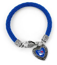 RANGERS NY (BLUE) BRAIDED BRACELET