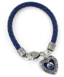OILERS (NVAY BLUE) BRAIDED BRACELET