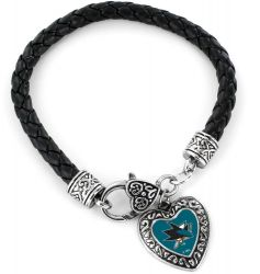 SHARKS (BLACK) BRAIDED BRACELET