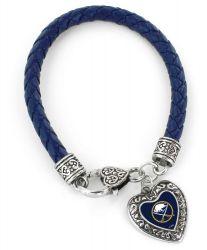 SABRES (NAVY BLUE) BRAIDED BRACELET