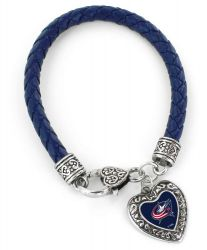 BLUE JACKETS (NAVY BLUE) BRAIDED BRACELET