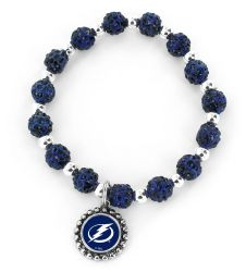 LIGHTNING (NAVY BLUE) PEBBLE BEAD STRETCH BRACELET