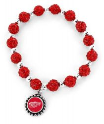 RED WINGS (RED) PEBBLE BEAD STRETCH BRACELET