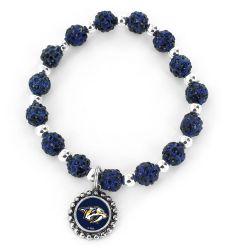 PREDATORS (NAVY BLUE) PEBBLE BEAD STRETCH BRACELET