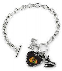 BLACKHAWKS LOVE SKATE BRACELET