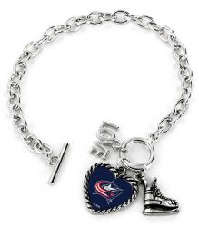 BLUE JACKETS LOVE SKATE BRACELET