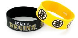 BRUINS WIDE BRACELETS (2 PACK)