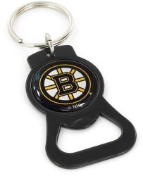 BRUINS (BLACK) BOTTLE OPENER KEYCHAIN