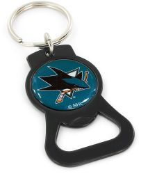 SHARKS (BLACK) BOTTLE OPENER KEYCHAIN