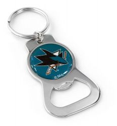 SHARKS BOTTLE OPENER KEYCHAIN PRIM. LOGO