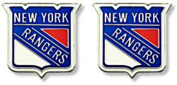 RANGERS NY TEAM POST EARRINGS