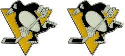 PENGUINS TEAM POST EARRINGS