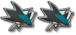 SHARKS TEAM POST EARRINGS