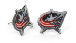 BLUE JACKETS TEAM POST EARRINGS