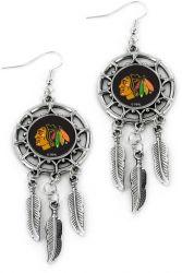 BLACKHAWKS DREAM CATCHER EARRINGS