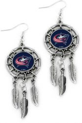 BLUE JACKETS DREAM CATCHER EARRINGS