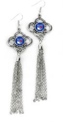RANGERS CHARMED TASSEL EARRINGS