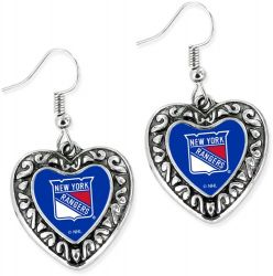 RANGERS HEART EARRINGS