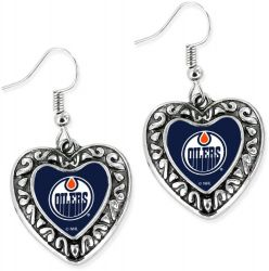OILERS HEART EARRINGS
