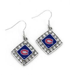 CANADIENS CRYSTAL DIAMOND EARRINGS